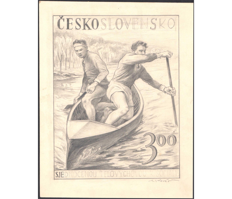 �ESKOSLOVENSKO 1952 - Zjednoten� telov�chova (Kanoistika)