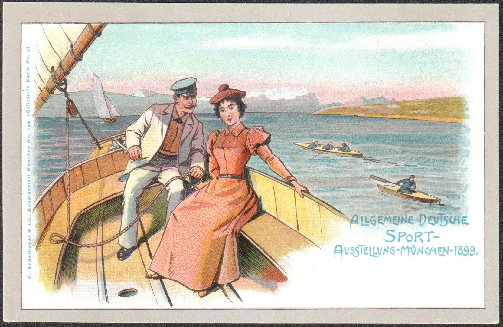 NEMECKO 1899 - V�eobecn� nemeck� �portov� v�stava MN�CHOV 1899 (Vodn� �porty)