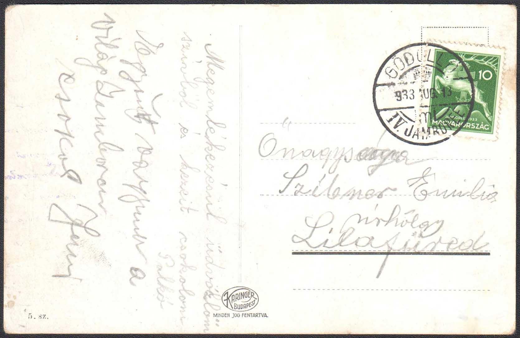 MA�ARSKO 1933 - IV. Skautsk� jamboree G�d�ll� 1933