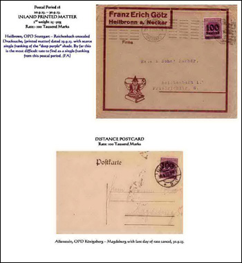 Filatelistick� expon�t The Hyper-Inflation Emergency Overprinted Provisional Issues (O. P. D.), September - December 1923
