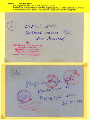 Filatelistick� expon�t Post from Human Organisation From Bosnia 1992 - 1995