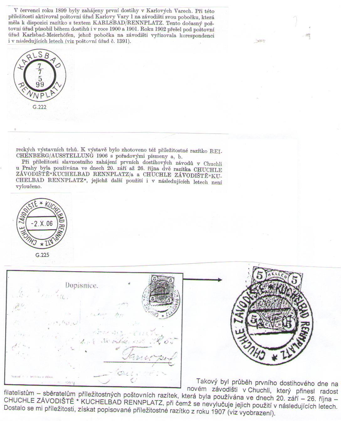 Príležitostné poštové pečiatky na námet dostihy z územia Československa (1. časť)