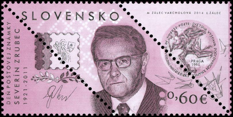 Deň poštovej známky: Severín Zrubec (1921 – 2011) - Varianty kupónov