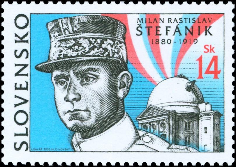 Tlačový list emisie Milan Rastislav Štefánik (1880 - 1919) s výrobnou chybou