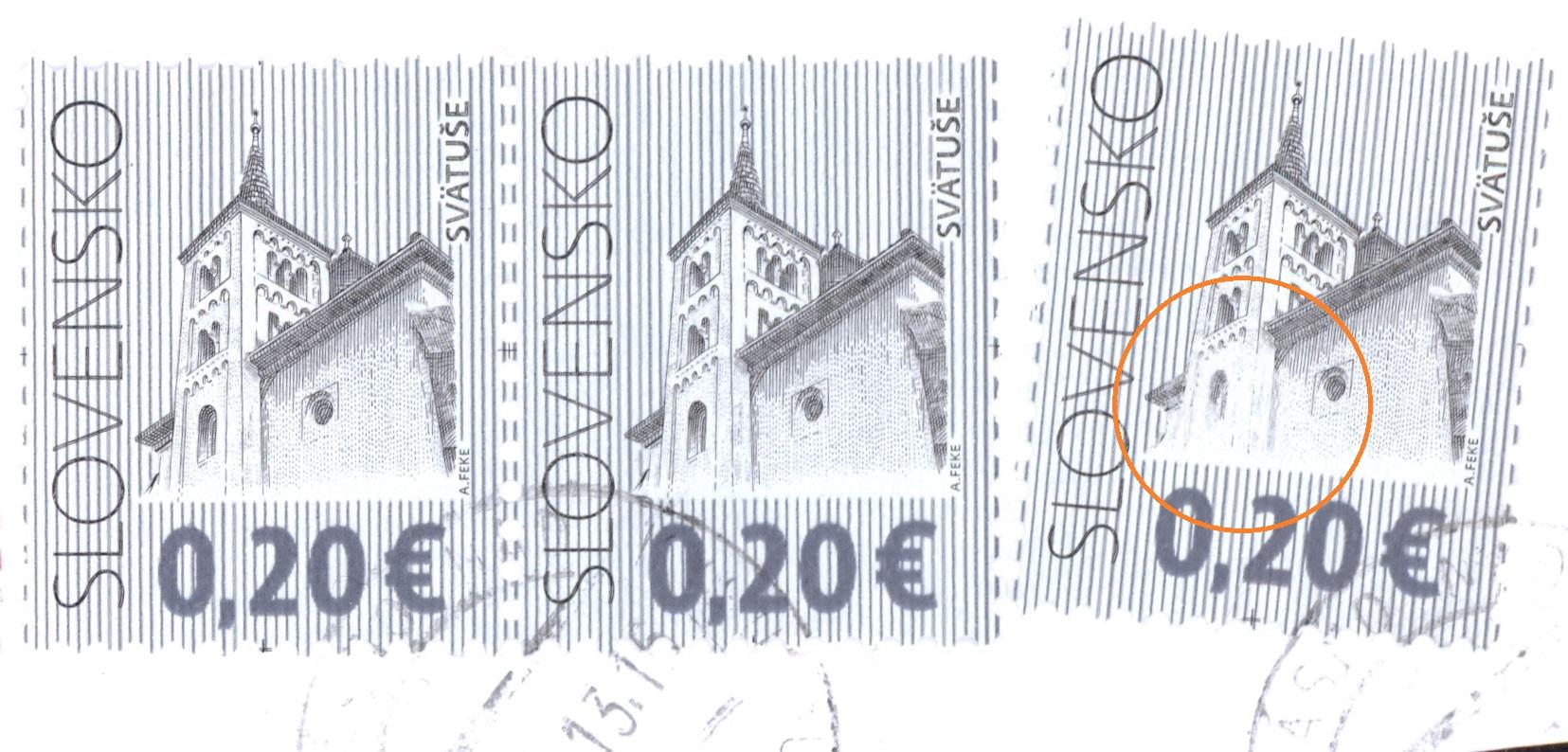 Poštové známky Kultúrne dedičstvo Slovenska