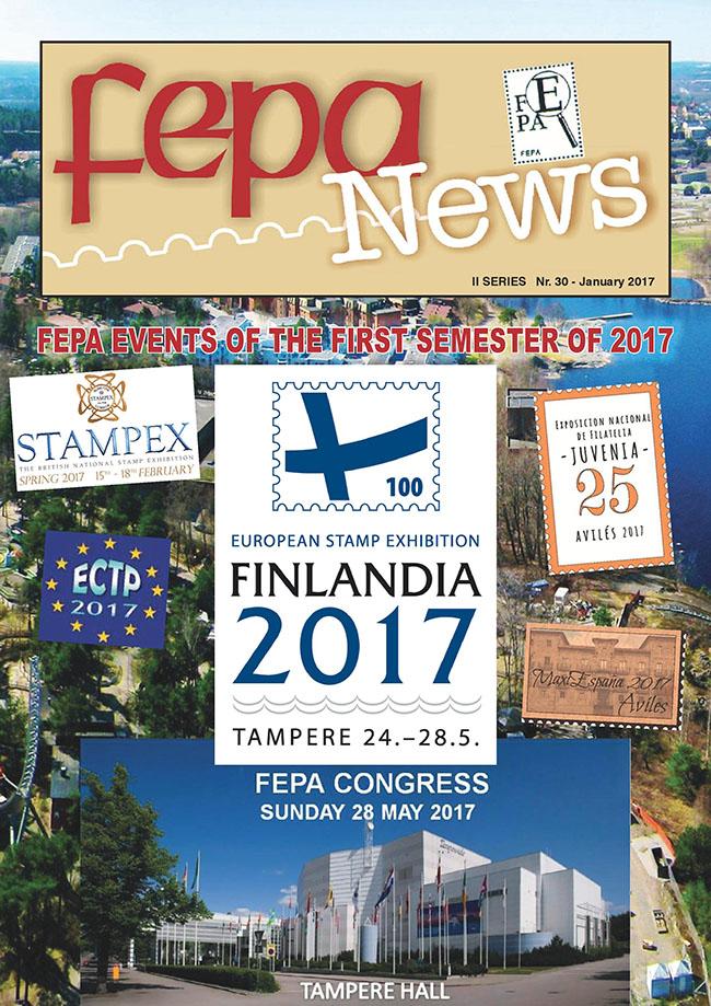 Časopis Európskej filatelistickej federácie FEPA NEWS