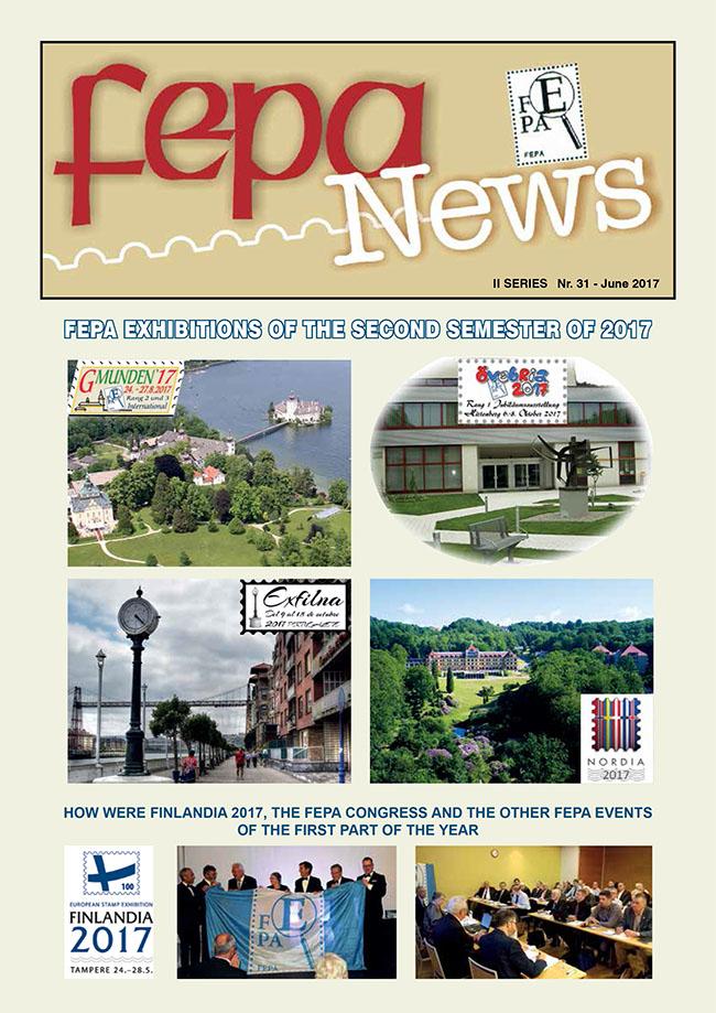 Èasopis Európskej filatelistickej federácie FEPA NEWS