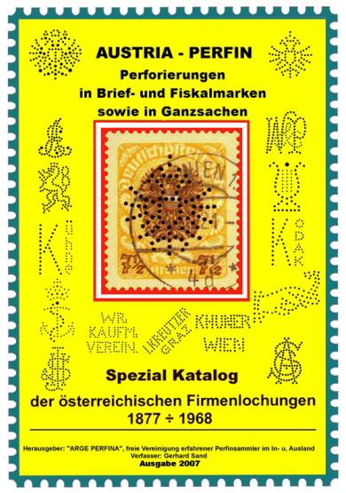 AUSTRIA - PERFIN Spezial Katalog der österreichischenFirmenlochungen