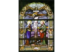 Celinová poh¾adnica Ve¾ká noc 2014: Ukrižovanie – vitráž v Kaplnke Svätej studne v Marianke
