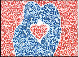 Celinová pohľadnica Valentínske blahoželanie