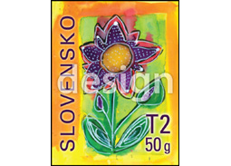 Postage Stamp Child drawing - floral motif (with a personalized coupon) (Original artwork(s))