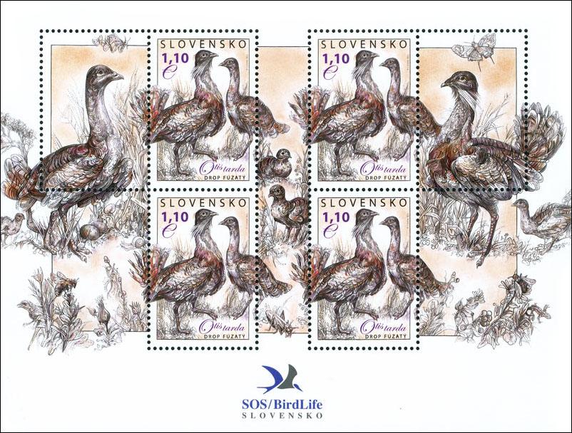 Poštová známka Ochrana prírody: Drop fúzatý (hárèeková úprava)