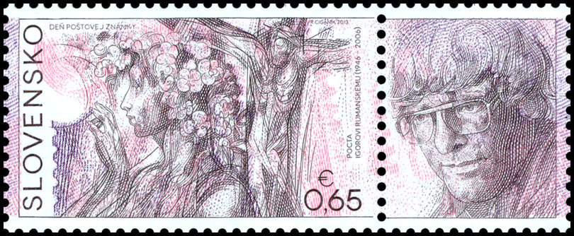Postage Stamp Day of postage stamp: Igor Rumansky (1946 – 2006) (Postage stamp with coupon)