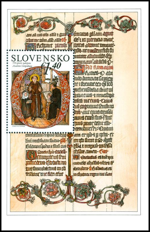 Poštová známka 550. výročie založenia Academie Istropolitany