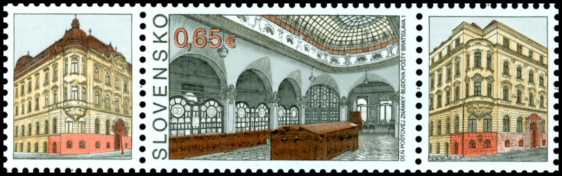 Postage Stamp Day of postage stamp: Post Office Building Bratislava 1 (Postage stamp with coupon)