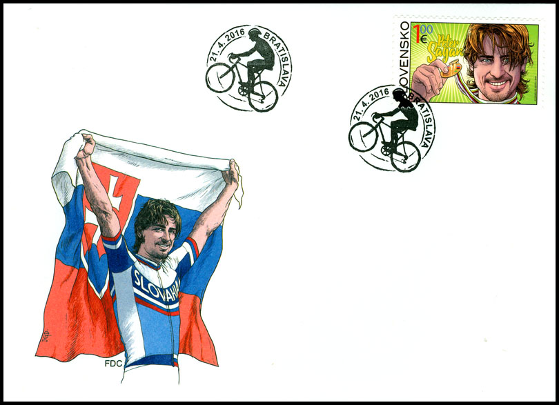 First Day Cover (FDC) to the postage stamp: 2015 UCI Road World Championships - Peter Sagan