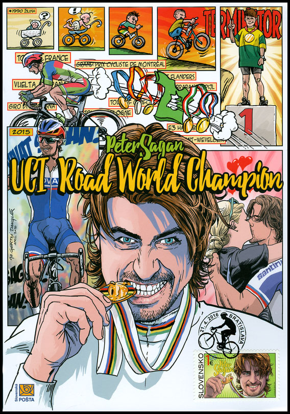 Collection Sheet to the postage stamp: 2015 UCI Road World Championships - Peter Sagan