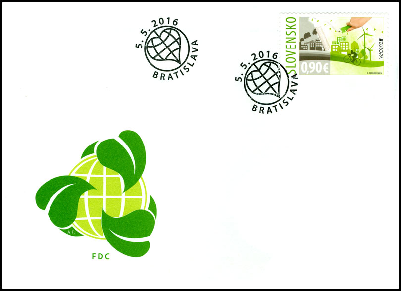 First Days Cover (FDC) to the postage stamp: EUROPA 2016: Ecology in Europe - Think Green!