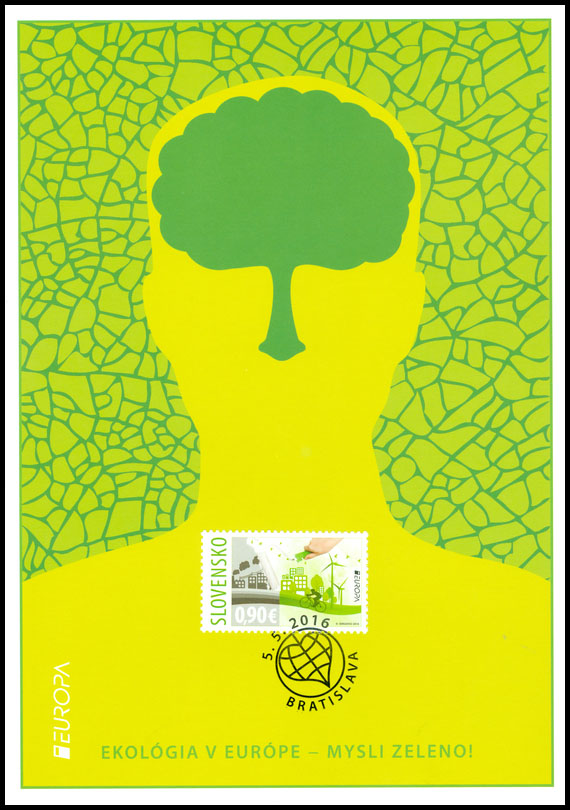 Collection Sheet to the postage stamp: EUROPA 2016: Ecology in Europe - Think Green!