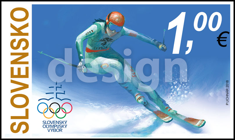 7439439c0 Zimné olympijské hry PyeongChang 2018 - Zjazdové lyžovanie (Pôvodný  výtvarný návrh