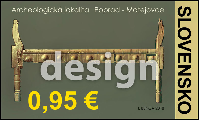 Postage Stamp Beauties of our Homeland: Archeological site Poprad-Matejovce (Original artwork(s))