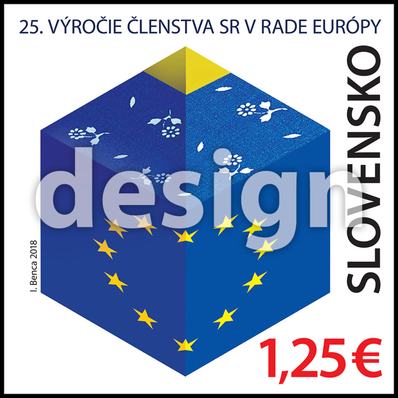 Postage Stamp 25th anniversary of the Slovak Republic`s membership in the Council of Europe (Original artwork(s))