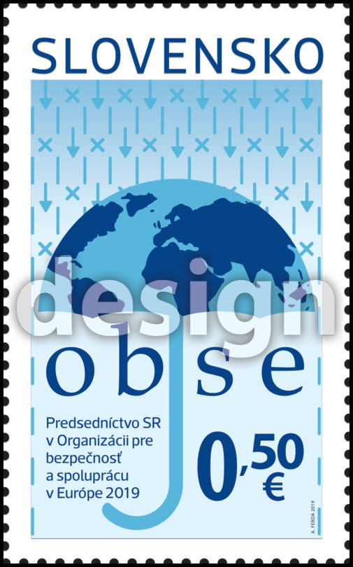 Postage Stamp Presidency of the SR in the Organization for Security and Co-operation in Europe (OSCE) (Original artwork)