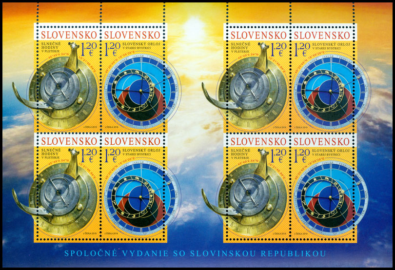 Postage Stamp Sundial in Pleterje (Joint Issue with Slovenia) (Souvenir sheet format)