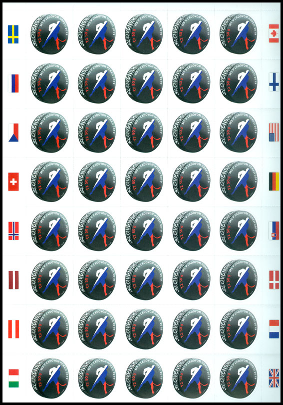 Postage Stamp Ice Hockey World Championships 2019 (Adjusted printing sheet)