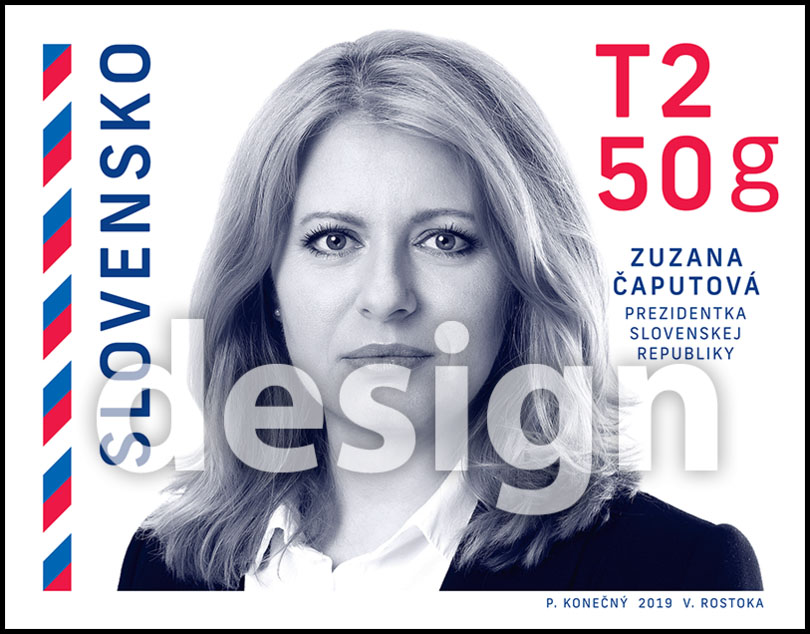 Postage Stamp President of the Slovak Republic - Zuzana Èaputová (Original artwork)