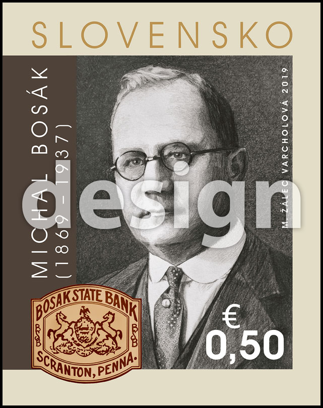 Postage Stamp Personalities: Michal Bosák (1869 – 1937) - 150th birth anniversary (Original artwork(s))