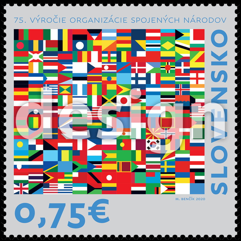 Postage Stamp 75th anniversary of the United Nations (Original artwork(s))