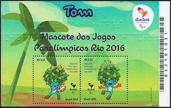 Po�tov� zn�mka Letn� paralympijsk� hry RIO 2016
