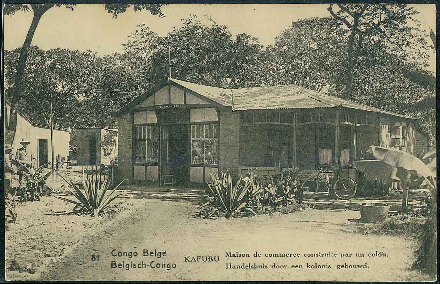 Pictorial Postal Card with Bicycle in fornt of the Cottage in Forest