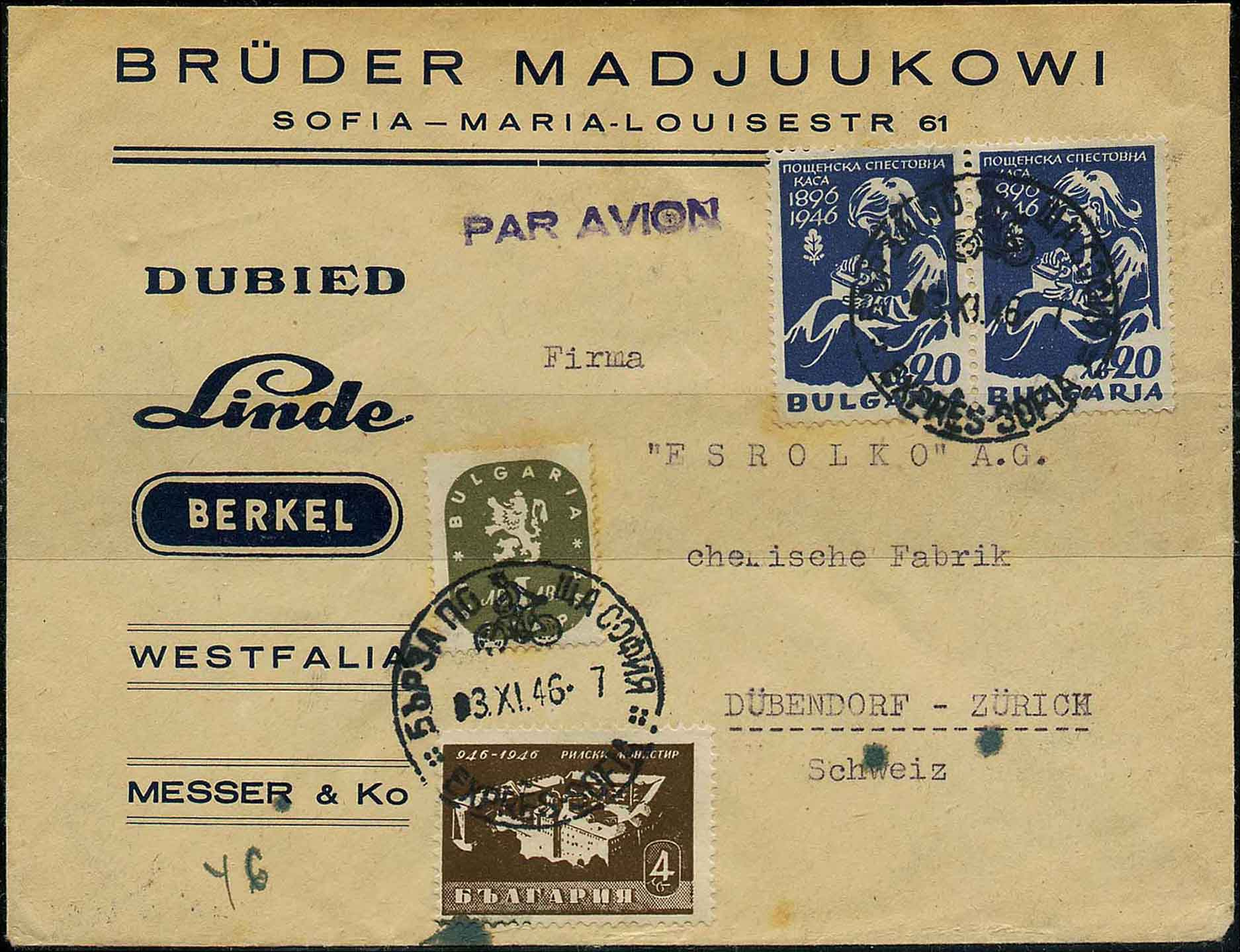 Cover with Bicycle Express Post Cancellation