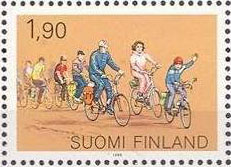 Group of recreational cyclists