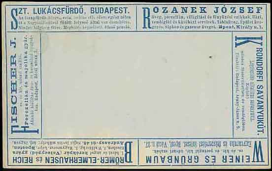 Postal card with Bicycle Shop Advertisement