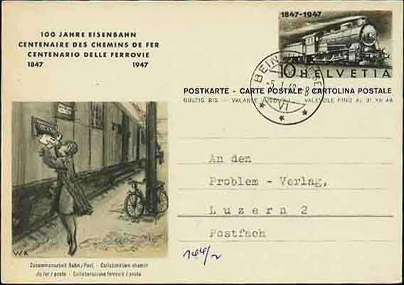 Postal Card with Pictorial Imprint with Bicycle