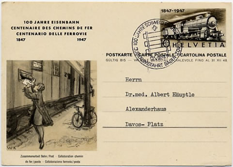 Postal Card with Pictorial Imprint with Bicycle and Special Cancellation