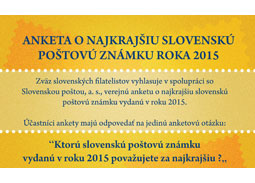 Public poll for the most beautiful Slovak stamp of 2015