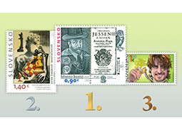 Results of the public poll for the most beautiful Slovak stamp of 2016