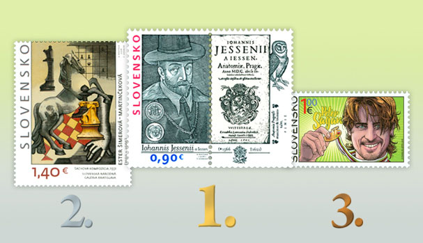 New issues, inaugurations, the most beautiful stamps Results of the public poll for the most beautiful Slovak stamp of 2016