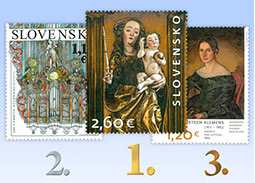 Results of the public poll for the most beautiful Slovak stamp of 2017
