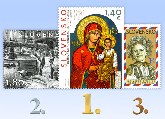 New issues, inaugurations, the most beautiful stamps Results of the public poll for the most beautiful Slovak stamp of 2018