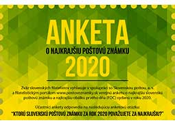 Public poll for the most beautiful Slovak postage stamp of 2020