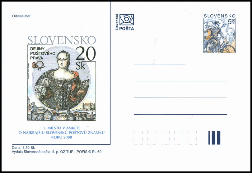 Public poll for the most Beautiful Slovak Stamp of 2000