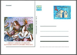 Public poll for the most Beautiful Slovak Stamp of 2012