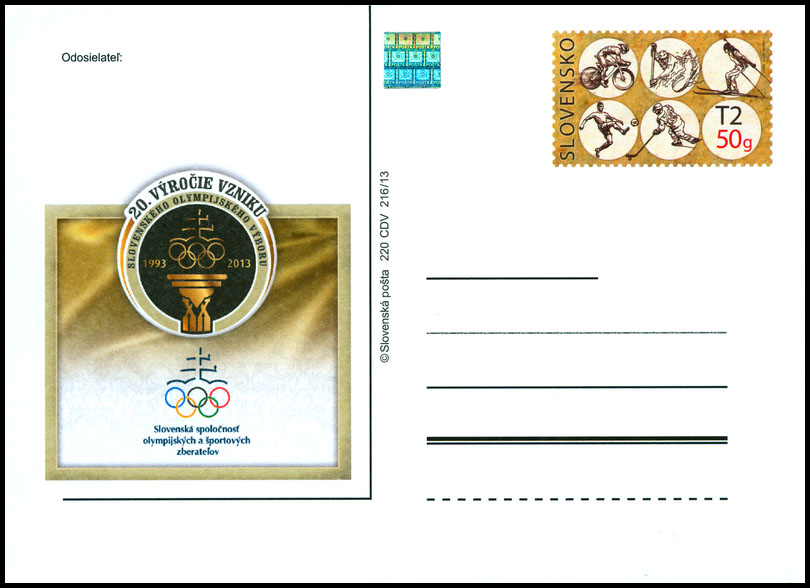 20th anniversary of the Slovak Olympic Committee and the Slovak Society of Olympic and Sports Collectors