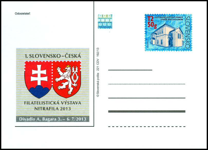 1st Slovak - Czech Philatelic Exhibition NITRAFILA 2013