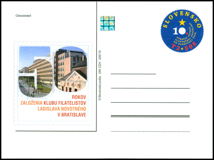 50 years of the philatelists club of Ladislav Novotny